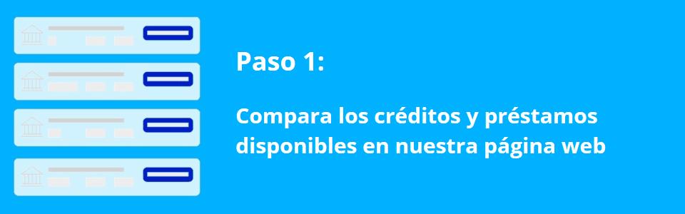 Creditos.biz – Paso 1 – Comparar creditos