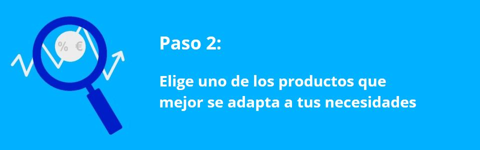 Creditos.biz – Paso 2 – Elegir credito