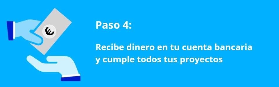 Creditos.biz – Paso 4 – Recibir credito